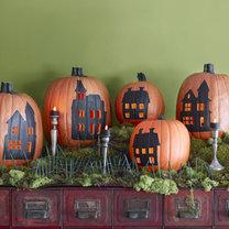 dynie na Halloween - nawiedzone domy