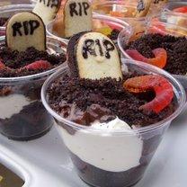 halloweenowy deser czekoladowy