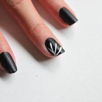 paznokcie pajęczyna - krok 2