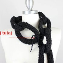Szalik - łańcuch na drutach 6