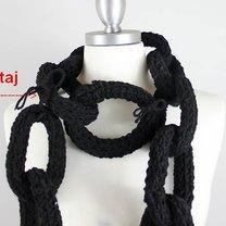 Szalik - łańcuch na drutach 7
