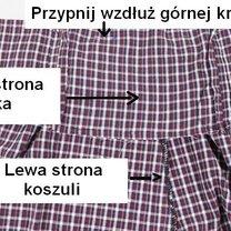 Spódnica z męskiej koszuli 9