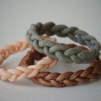 plecione bransoletki z gliny