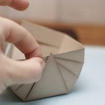 koszyczek z papieru - krok 6
