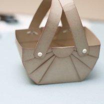 koszyczek z papieru - krok 9