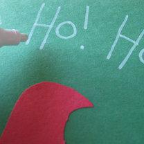 Robienie kartki z Mikołajem 5