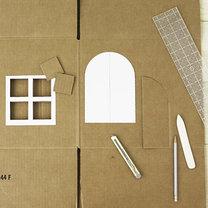Dom z kartonu dla kota 2