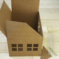 Dom z kartonu dla kota 4