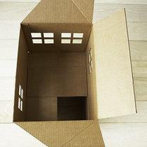 Dom z kartonu dla kota 5