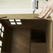 Dom z kartonu dla kota 6