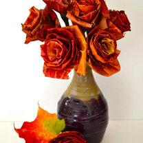 Bukiet róż z liści