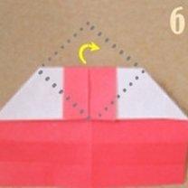 Robienie pierścionka origami 6