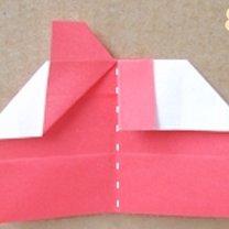 Robienie pierścionka origami 8