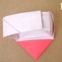 Robienie pierścionka origami 16