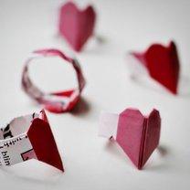Pierścionek origami serce