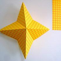 Robienie papierowej gwiazdy 3