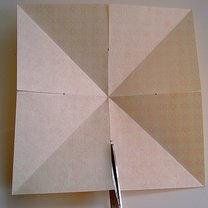 Robienie papierowej gwiazdy 5