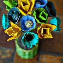 Kwiatki z wytłaczanek