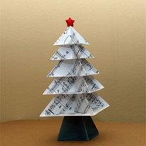 Origami modułowe - choinka