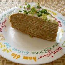 Naleśniki z wątróbką - tort