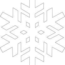szablon śnieżynki