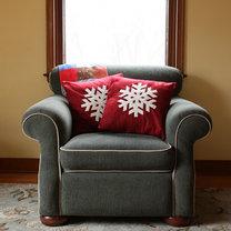 świąteczna poduszka z filcu