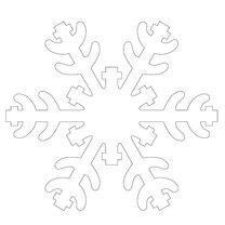 szablon śnieżynki nr 1