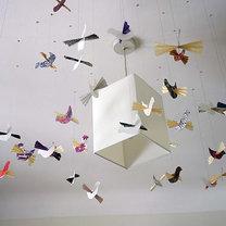 Kolorowe ptaszki z papieru