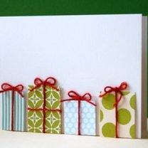 Kartka świąteczna z prezentami