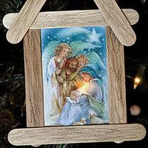 Ozdoby choinkowe z kartek bożonarodzeniowych
