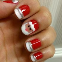 paznokcie Mikołaj