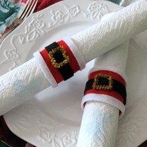 świąteczne pierścienie na serwetki