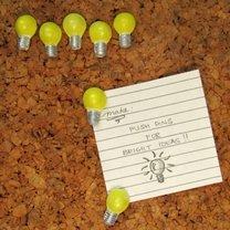 Pinezki do tablicy korkowej - żarówki