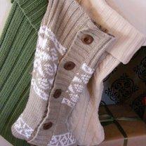 skarpety ze swetra na prezenty