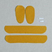 Buciki z filcu dla dziecka krok 3