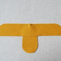 Buciki z filcu dla dziecka krok 4