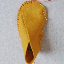 Buciki z filcu dla dziecka krok 9