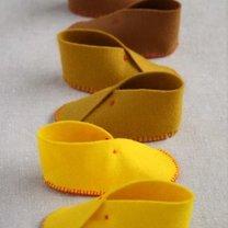 buciki dla niemowlaka z filcu