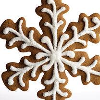 pierniczki świąteczne - śnieżynki