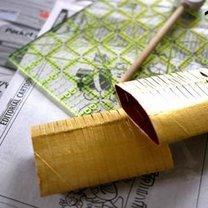 Ozdoby choinkowe z rolki po papierze 13