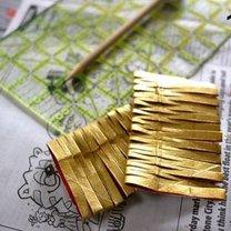 Ozdoby choinkowe z rolki po papierze 15