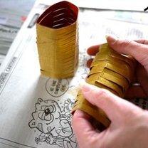 Ozdoby choinkowe z rolki po papierze 16