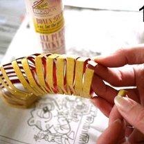 Ozdoby choinkowe z rolki po papierze 18