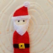 Mikołaj z filcu na choinkę