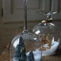 Śnieżne kule z lampek