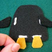 Pingwin z filcu krok 3