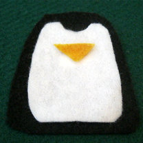 Pingwin z filcu krok 5