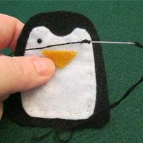 Pingwin z filcu krok 7