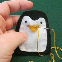 Pingwin z filcu krok 8