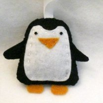 Pingwin z filcu krok 15